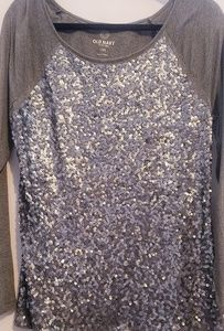 Old Navy Tops - Long sleeve sequence top